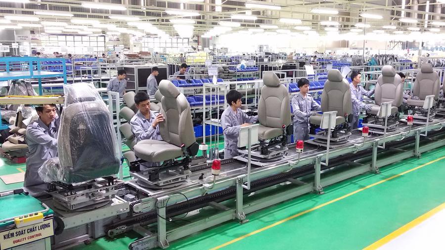 Thaco sản xuất ghế ô tô