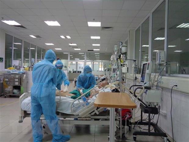 Điều trị bệnh nhân Covid-19 tại TP.HCM - Ảnh: VGP