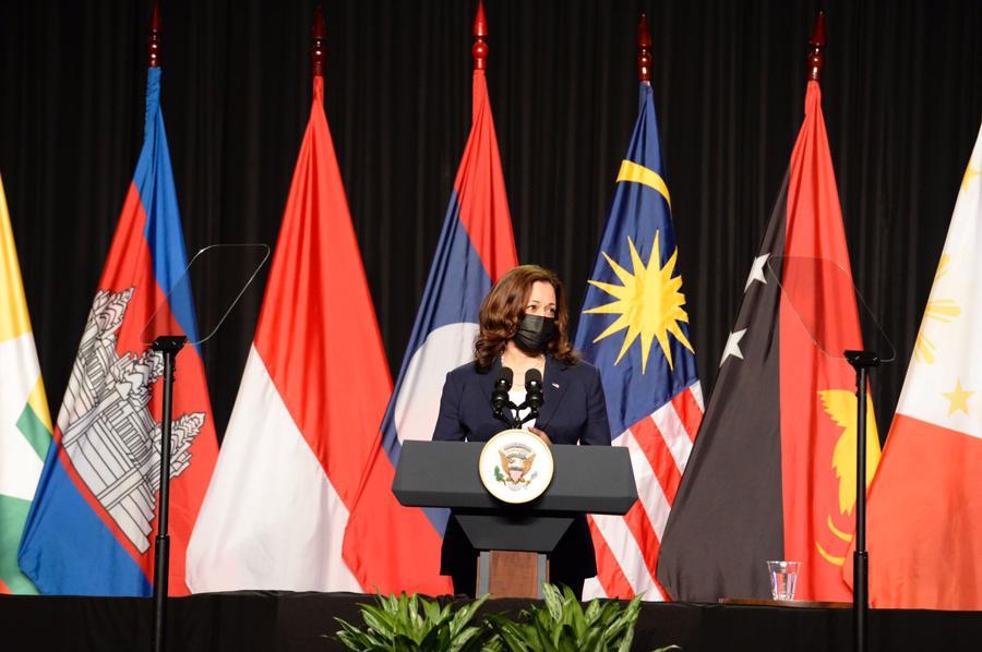Phó Tổng thống Mỹ phát biểu tại lễ khai trương - Ảnh: Đại sứ quán Mỹ tại Việt Nam