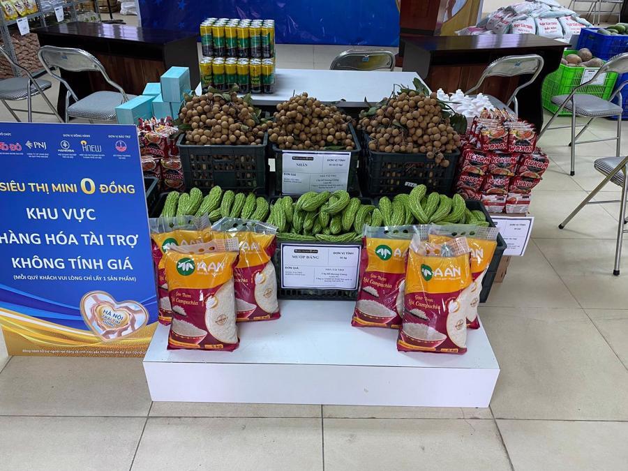 Gạo A An tại Siêu thị 0đ hỗ trợ người dân mùa dịch.