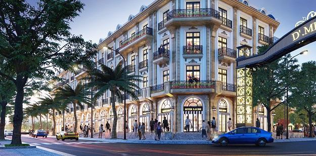 Shophouse D'. Metropole Hà Tĩnh hội tụ những yếu tố sáng giá.