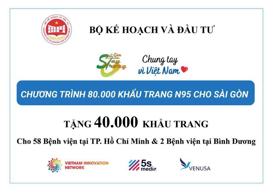 Bộ Kế hoạch và Đầu tư trao tặng khẩu trang y tế cho cán bộ y tế tuyến đầu tại TP.HCM - Ảnh 1