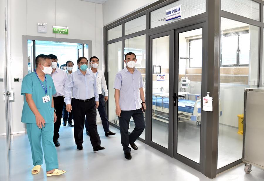 Bệnh viện điều trị người bệnh Covid-19 có tổng diện tích 3,5 ha, quy mô 500 giường, được khởi công xây dựng ngày 24/7 tại phường Yên Sở, quận Hoàng Mai, Hà Nội. Đây được coi là một trong những cơ sở hiện đại nhất Việt Nam để điều trị bệnh nhân mắc Covid-19.