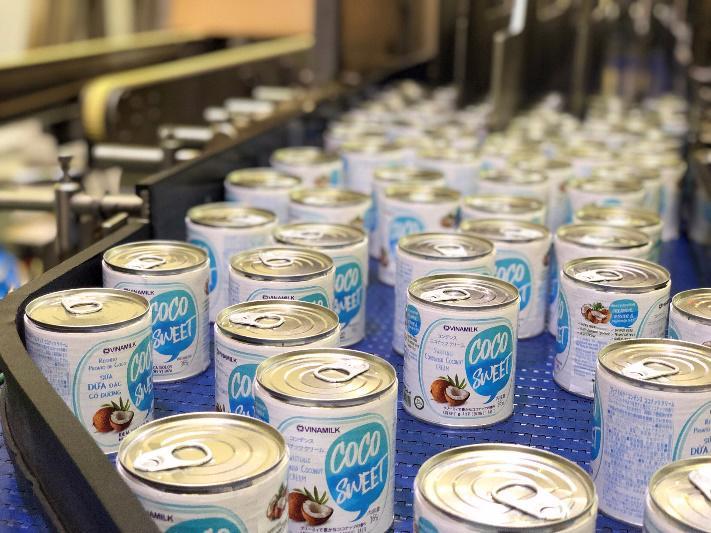 Sản phẩm sữa dừa đặc Vinamilk xuất khẩu đi Nhật Bản.