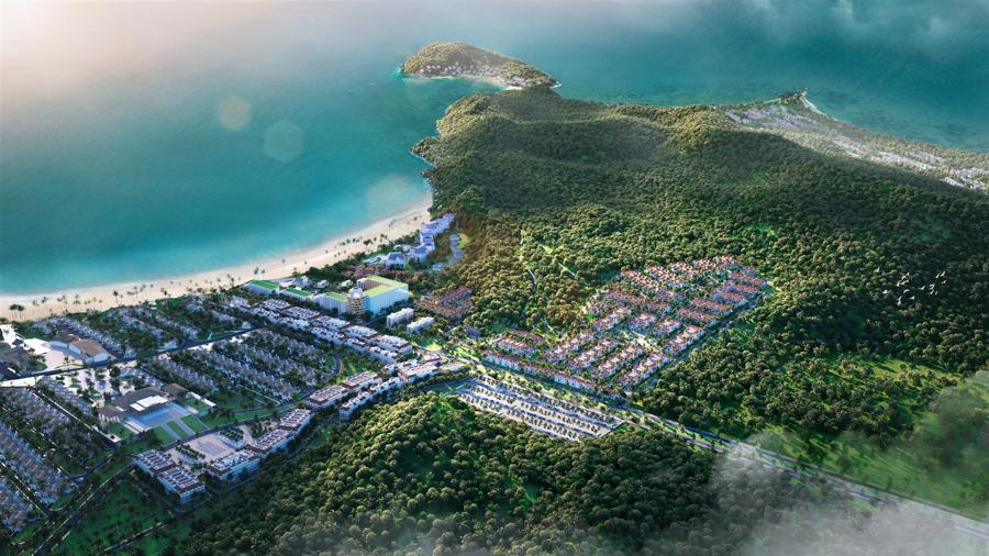 Phối cảnh Sun Tropical Village là mảnh ghép mới của quần thể Bãi Kem, Nam Phú Quốc.