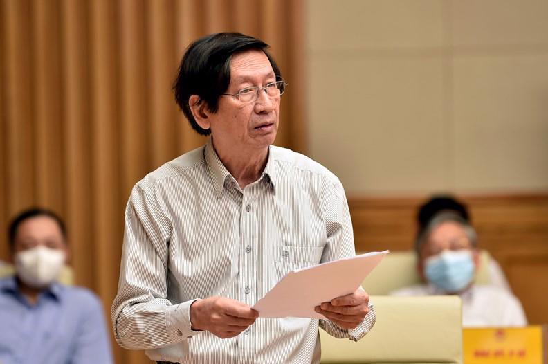 GS. Phạm Gia Khánh, nguyên Giám đốc Học viện Quân y, phát biểu tại buổi gặp mặt. Ảnh: VGP/Nhật Bắc.