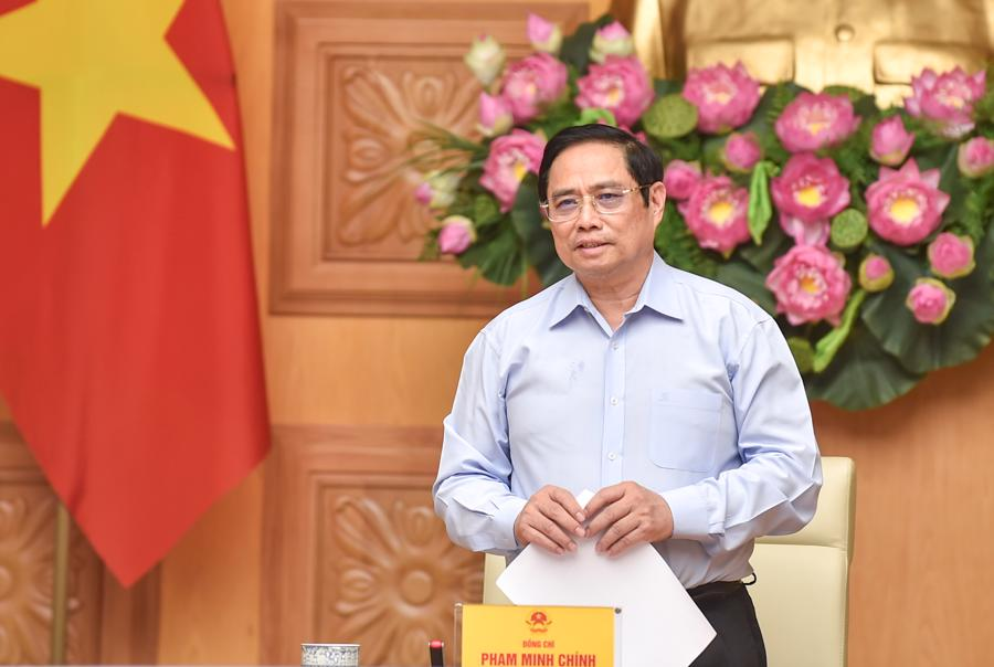 Thủ tướng Phạm Minh Chính tại buổi làm việc - Ảnh: Bộ Ngoại giao.