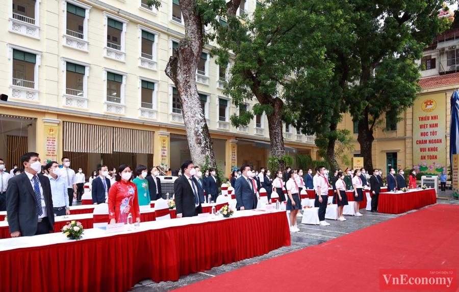 Trường THCS Trưng Vương - nơi tổ chức lễ khai giảng năm học mới 2021 - 2022 chung của thành phố Hà Nội.