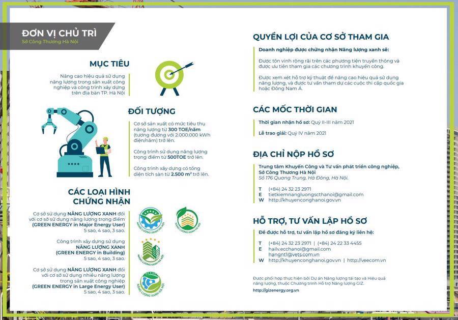Nhiều lợi ích của chương trình đối với cơ sở xây dựng và mục tiêu phát triển bền vững của Việt Nam.