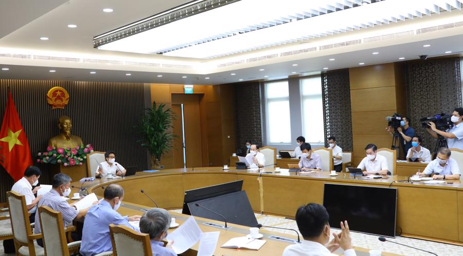 Các chuyên gia, nhà khoa học tham dự cuộc họp. Ảnh - VGP.