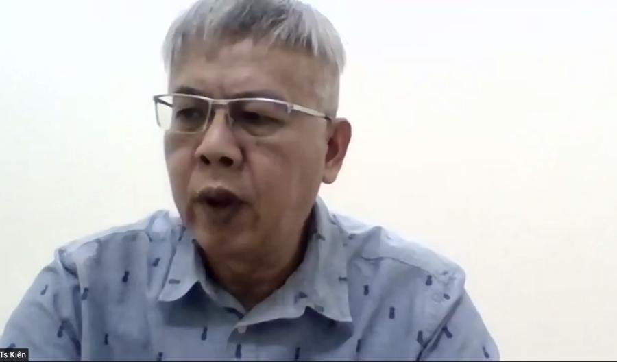 Tiến sĩ Nguyễn Đức Kiên, Tổ trưởng Tổ tư vấn kinh tế của Thủ tướng tham gia toạ đàm.