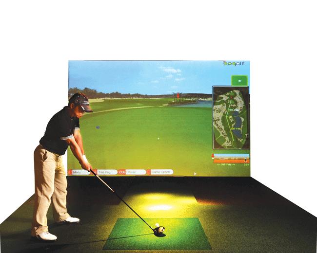 Trong mô hình này, các golfer có thể lựa chọn thử sức ở những sân golf hàng đầu thế giới, được lập trình mô phỏng trong hệ thống.