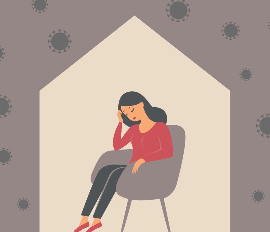 Giãn cách xã hội hay cách lylàm con người dễ rơi vào trạng thái cô đơn.