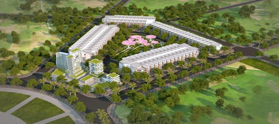 Phối cảnh Khu đất ở, dịch vụ thương mại 03 - Nguồn:Ban quản lý Khu kinh tế Nhơn Hội.
