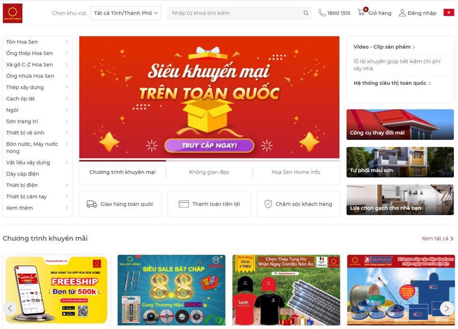 Website thương mại điện tử: www.hoasenhome.vn