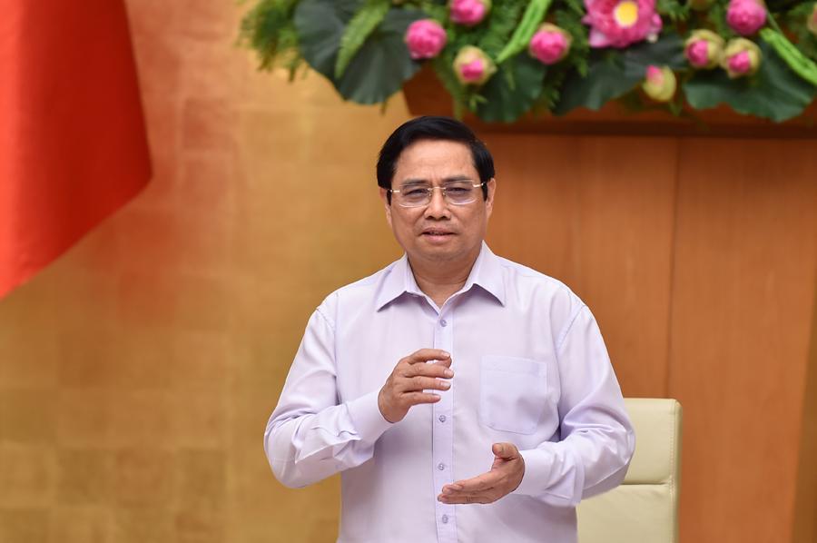 Thủ tướng Phạm Minh Chính phát biểu tại buổi làm việc - Ảnh: VGP