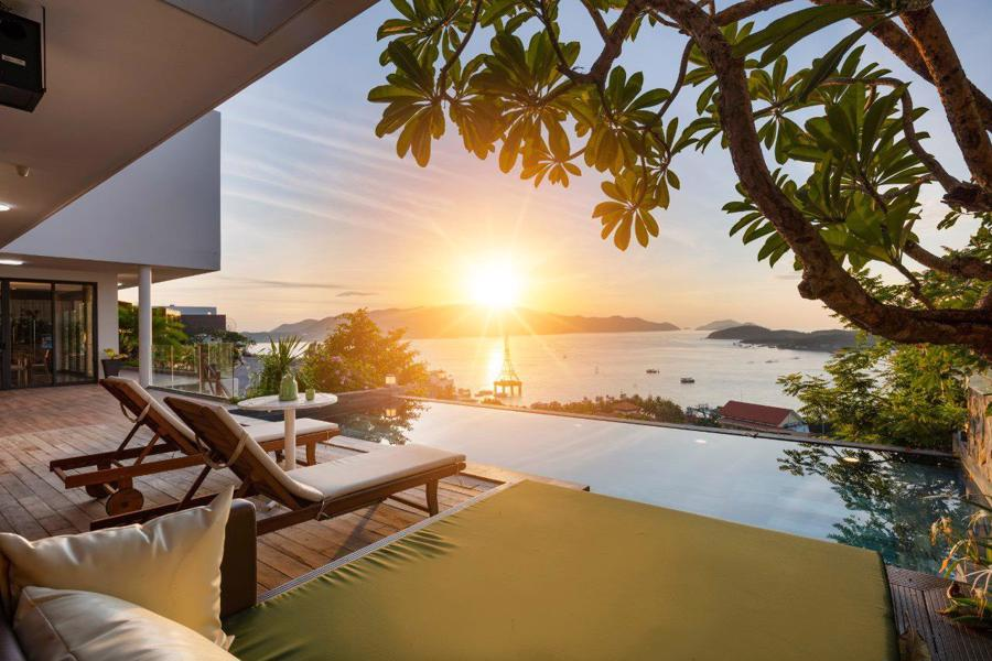 Phối cảnh biệt thự tựa núi tại Anh Nguyễn Ocean Front Villas.