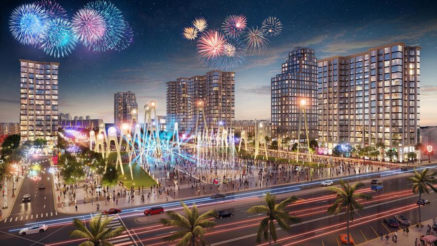 Kinh tế đêm Sầm Sơn sớm được kích hoạt nhờ quảng trường biển, trục đại lộ thương mại.