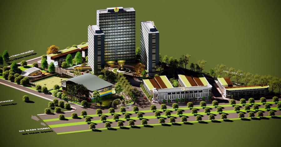 Khu nhà ở thiết chế Công đoàn tại Nam Định sẽ được Tập đoàn GFS áp dụng sử dụng cấu kiện tiền chế.