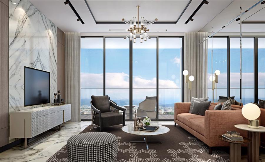 Phối cảnh chủ nhân The Platinum có thể lựa chọn các phong cách nội thất khác nhau.