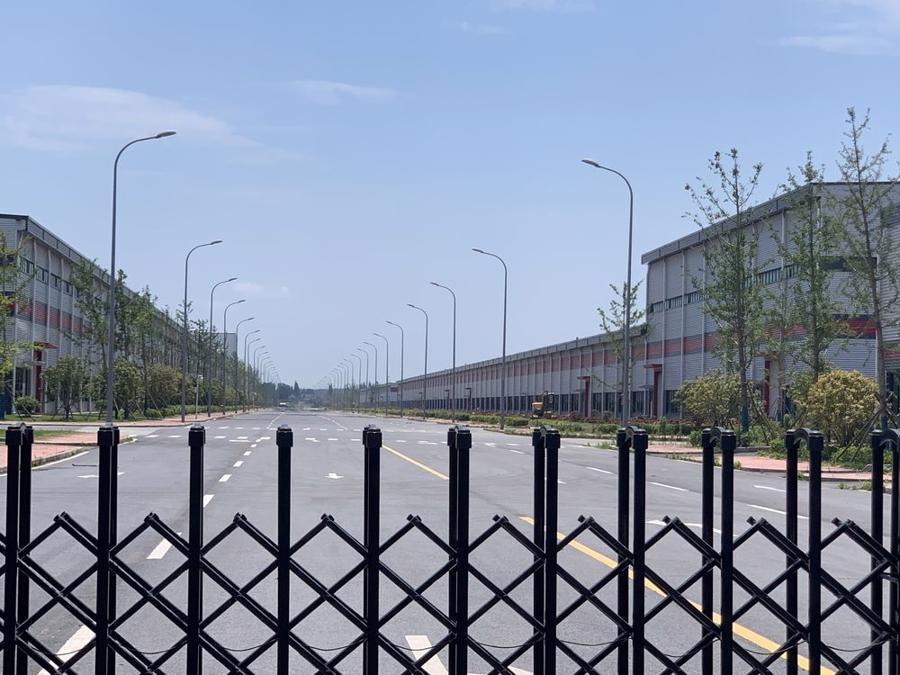 Bên ngoài nhà máy của Yinlong New Energy tại Nam Kinh - Ảnh: Bloomberg