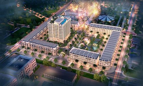 D'. Metropole Hà Tĩnh tiếp giáp 4 mặt phố lớn, thuận tiện đi lại.