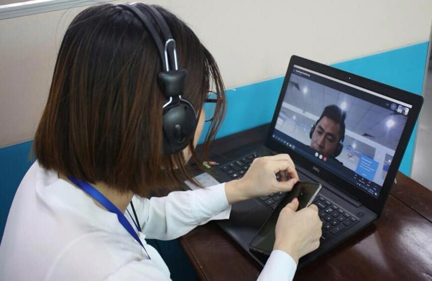 Người lao động được kết nối việc làm, giải đáp bảo hiểm thất nghiệp online. Ảnh minh họa.