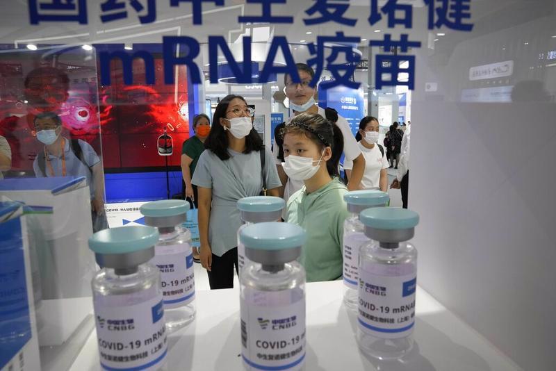 Sinopharm giới thiệu các loại vaccine mà công ty đang phát triển - Ảnh: Xinhua