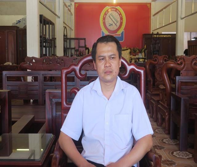 Ông Vũ Quốc Vương, Chủ tịch Hội làng nghề gỗ mỹ nghệ Đồng Kỵ