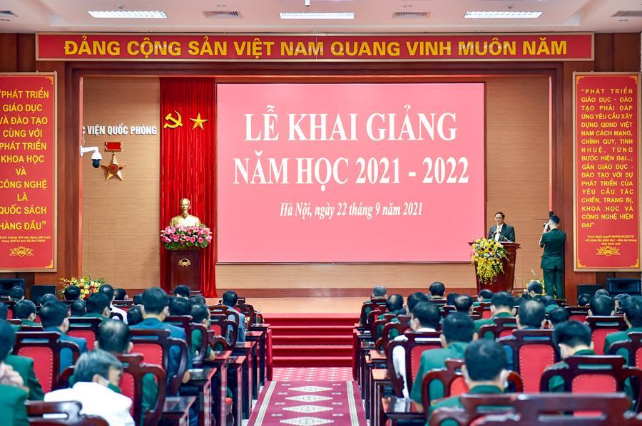 Lễ khai giảng năm học 2021-2022 của Học viện Quốc phòng - Ảnh: VGP