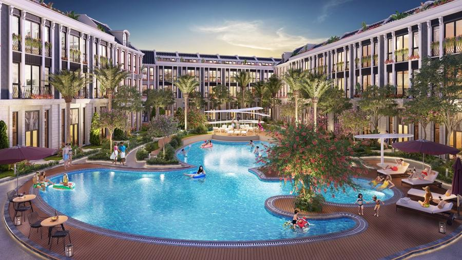Mỗi phân khu đều đầy đủ tiện ích như một resort thu nhỏ.