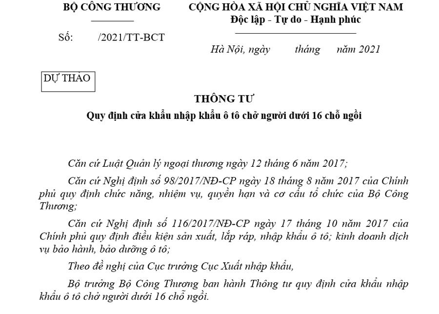 Đề xuất bổ sung cảng biển Nghi Sơn được phép nhập khẩu ô tô dưới 16 chỗ - Ảnh 1