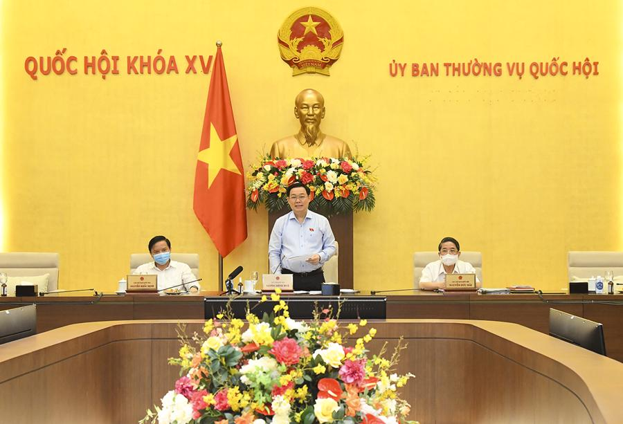 Chủ tịch Quốc hội phát biểu tại phiên họp - Ảnh: Quochoi.vn