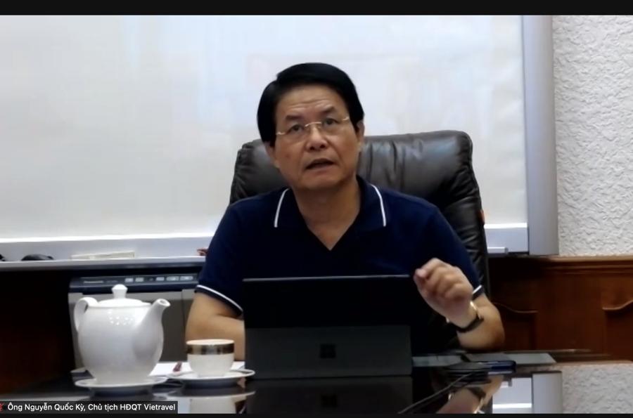 Ông Nguyễn Quốc Kỳ, Chủ tịch HĐQT Vietravel.