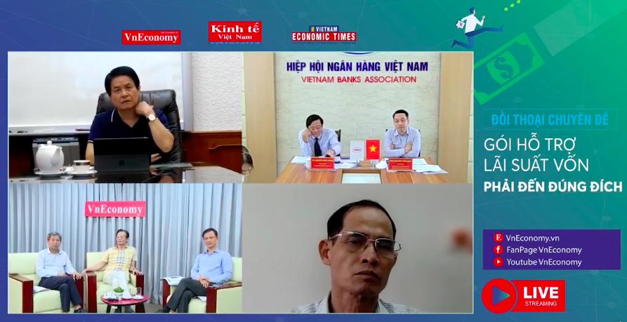 """Đối thoại chuyên đề""""Gói hỗ trợ lãi suất: Vốn phải đến đúng đích"""" do Tạp chí Kinh tế Việt Nam -VnEconomy tổ chức tối 25/9"""
