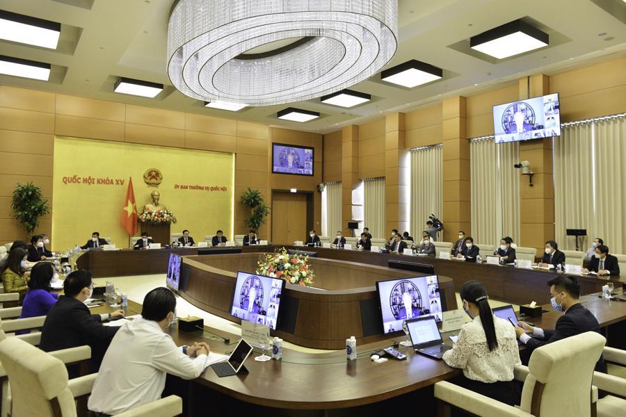 Toàn cảnh buổi làm việc tại đầu cầu Nhà Quốc hội Việt Nam - Ảnh: Quochoi.vn