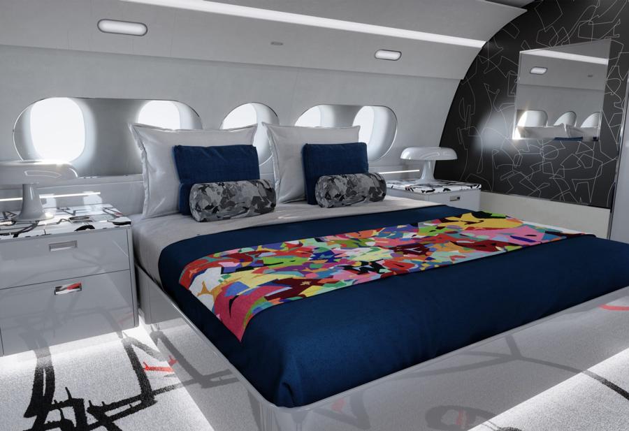 Những nét vẽnghệ thuật của Cyril Kongo là điểm nhấn đưa mẫu thiết kế cabin lên một cấp độ cảm xúc mới.