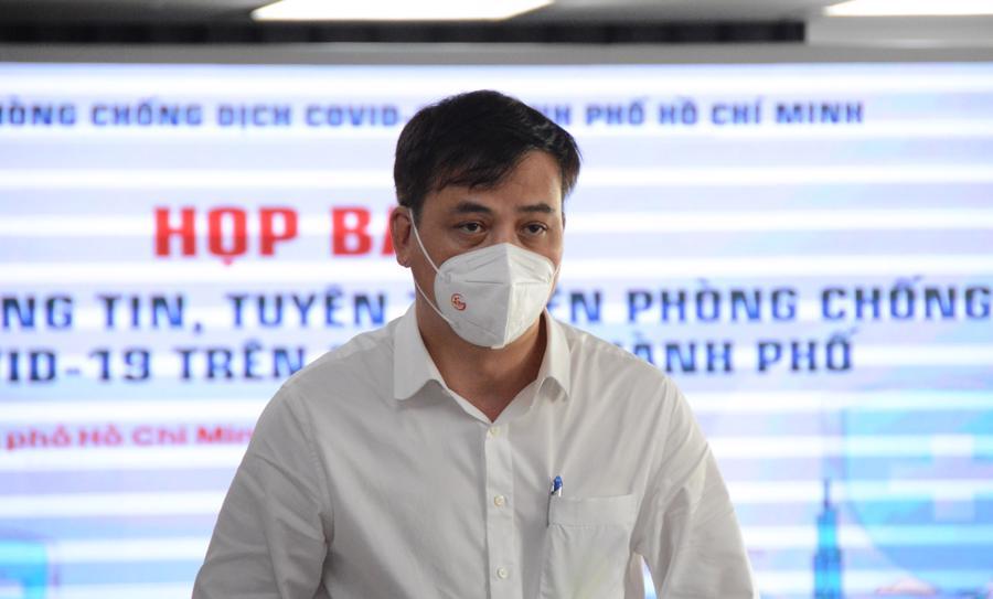 Ông Lê Hòa Bình, Phó Chủ tịch UBND TP.HCM tại buổi họp ngày 30/9.
