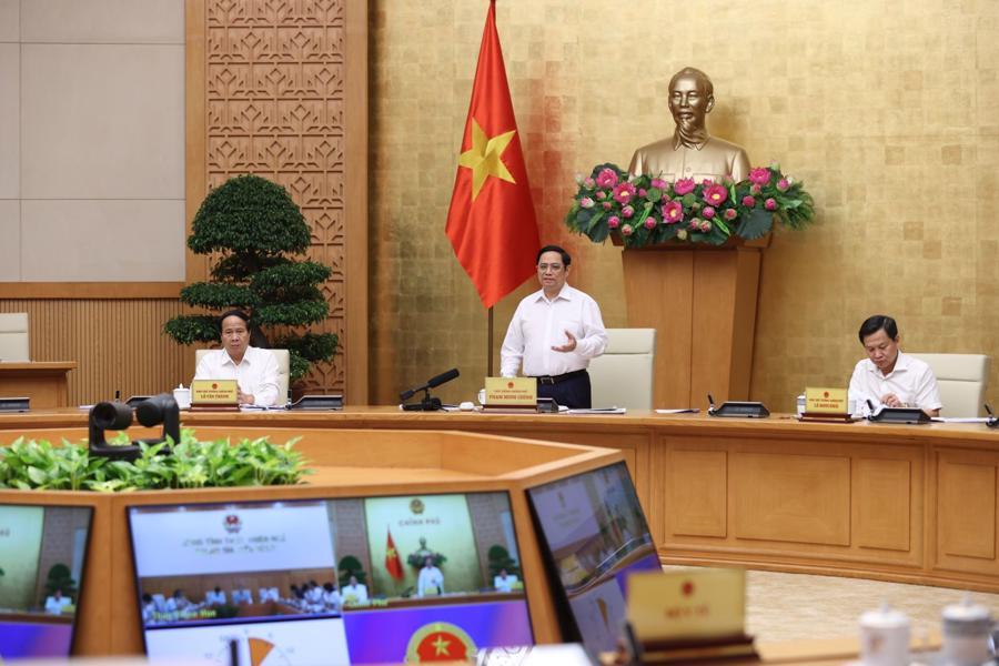 Thủ tướng phát biểu chỉ đạo tại buổi làm việc - Ảnh: VGP