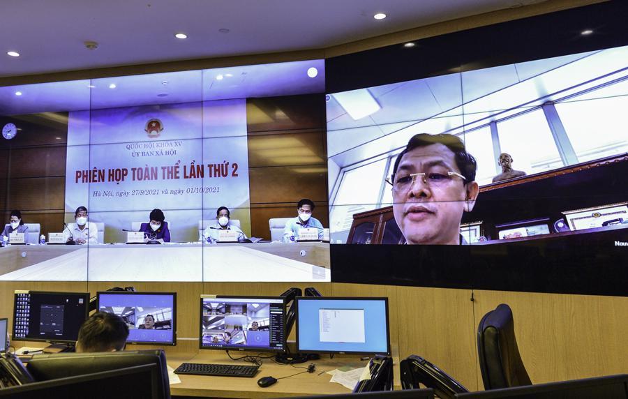 Phiên họp được tổ chức theo hình thức trực tuyến - Ảnh: Quochoi.vn