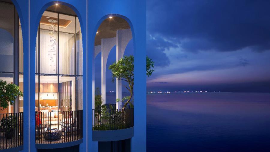 Kiến trúc hình mái vòm của Asinana Đà Nẵng trông xa xa tựa như những đường cong của mặt trời ló dạng buổi sớm mai, đánh thức và lan tỏa vùng đất.