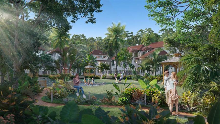 Phối cảnhSun Tropical Village - khu đô thị nghỉ dưỡng phong cách nhiệt đới.