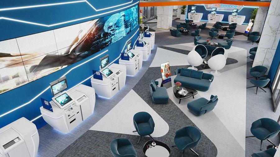 Không gian sang trọng với những thiết bị công nghệ hiện đại bên trong văn phòng của KSF Group.