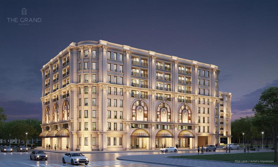 Kiến trúc bên ngoài khu căn hộ hàng hiệu Ritz-Carlton.