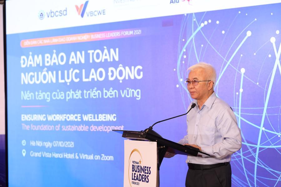 TS. Chử Văn Lâm, Tổng Biên tập Tạp chí Kinh tế Việt Nam - VnEconomy - Vietnam Economic Times tại Diễn đàn các nhà lãnh đạo doanh nghiệp 2021 diễn ra vào sáng ngày 7/10.