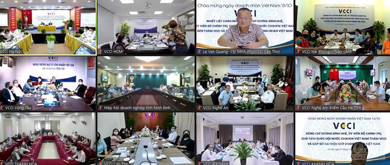 Chủ tịch Quốc hội Vương Đình Huệđã có buổi làm việc với VCCI và gặp gỡ đại diện giới doanh nhân Việt Nam.