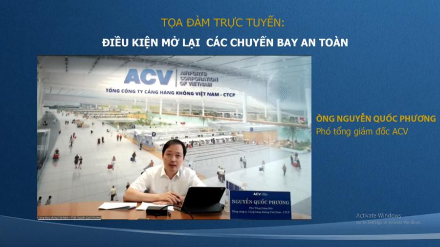 Ông Nguyễn Quốc Phương, Phó tổng giám đốc Tổng công ty Cảng hàng không Việt Nam (ACV).