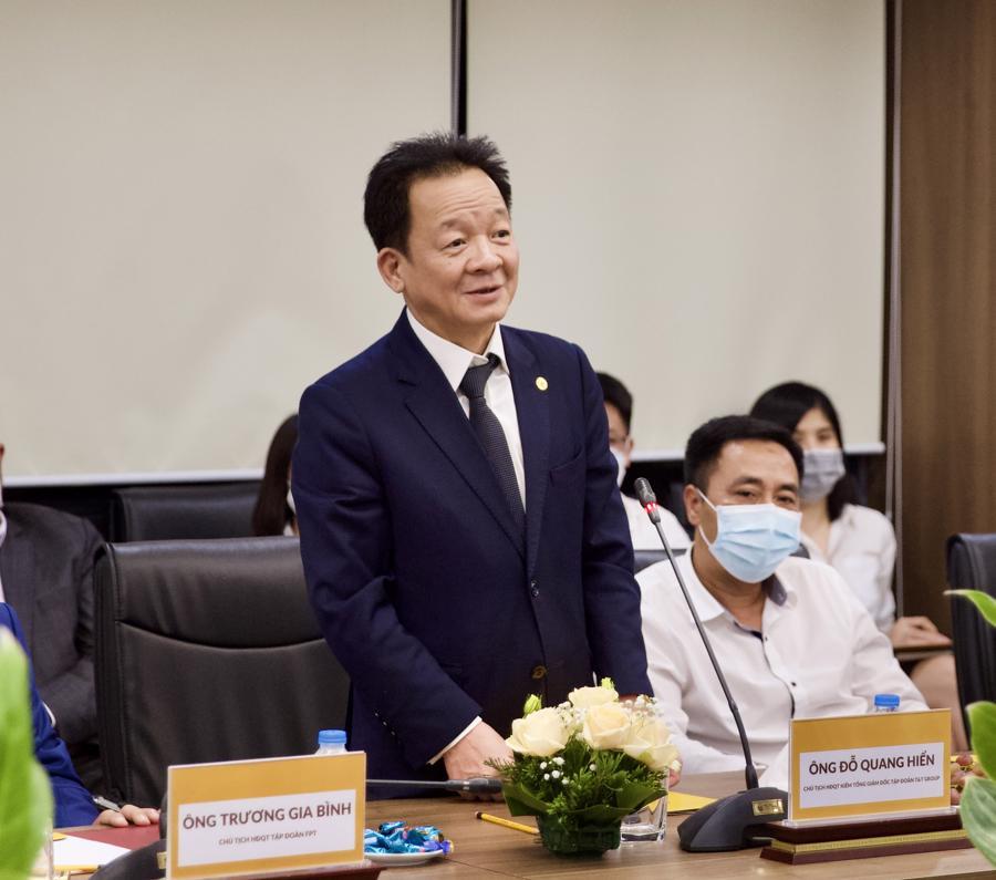 Ông Đỗ Quang Hiển, Chủ tịch Hội đồng Quản trị kiêm Tổng giám đốc Tập đoàn T&T Group phát biểu tại sự kiện.