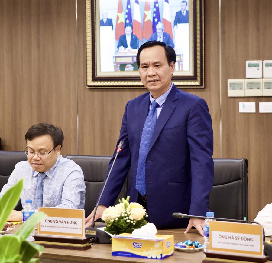 Ông Võ Văn Hưng, Phó Bí thư Tỉnh uỷ, Chủ tịch UBND tỉnh Quảng Trị phát biểu tại sự kiện.