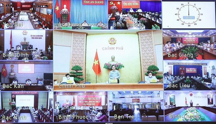 Toàn cảnh cuộc họp trực tuyến - Ảnh: VGP